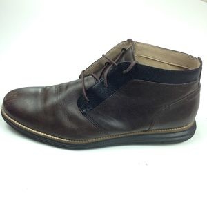 Cole Haan Grand OS Brown Leather Chukka Boots 13